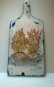 Deseczka ozdobna niebieska - lawendowa